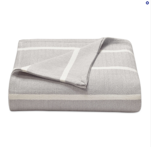 Herringbone Woven 100% Cotton Blanket