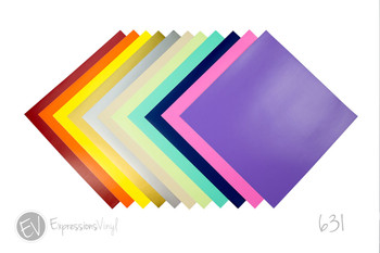 "Oracal 631 12""x12"" Removable Indoor Vinyl Sheet"