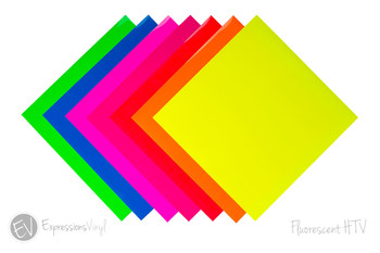 "Fluorescent EasyWeed 12""X12"" Heat Transfer Sheets"