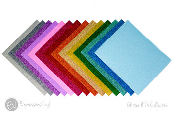 "Glitter 9""x12"" Heat Transfer Sheets"