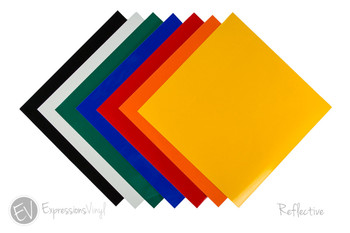 """Reflective Vinyl 12""""x12"""" Sheets"""