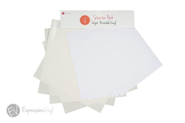 Expressions Vinyl Inkjet Printable Vinyl Starter Pack
