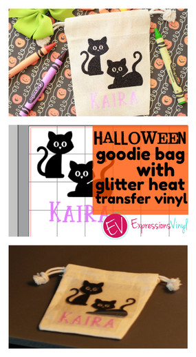 Halloween goodie bag with Heat transfer vinyl