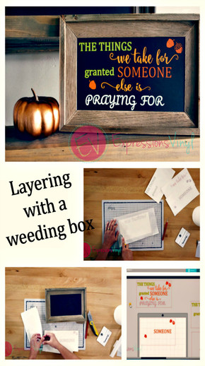 Using a Weeding Box to Layer Adhesive Vinyl with Silhouette Studio