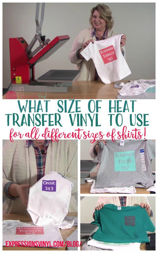 What Size of HTV Do You Need For a Shirt?!