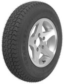 Loadstar Radial Ply Tire ST205/75D14 Aluminum Wheel 5 on 4-1/2 Load C 1760lb