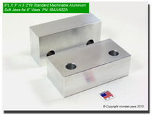 "6 x 3 x 2"" Aluminum Standard Soft Jaws for 6"" Vises"