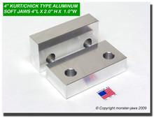"4 x 2 x 1"" Aluminum Standard Soft Jaws for 4"" Vises"
