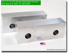 "8 x 3 x 2"" Aluminum Standard Soft Jaws for 8"" Vises"