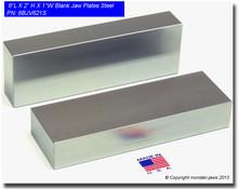 "6 x 2 x 1"" Steel Blank Jaw Plates"