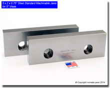 "6 x 2 x 0.75"" Oversized (Extension) Steel Jaws for 5"" Vises (out of stock)"