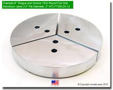 "8"" Oversized Aluminum American Standard Tongue & Groove Full Grip Jaws (12"" Pie Diameter, 2.0"" HT)"