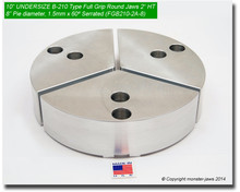 "10"" Undersized Aluminum Full Grip Round Jaws for B-210 Chucks (8"" Pie diameter, 2"" HT)"