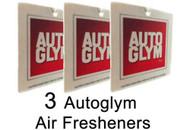 AutoGlym AIR FRESHENER x 3