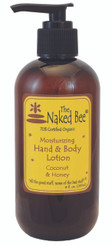 The Naked Bee Moisturizing Coconut & Honey Hand & Body Lotion 8 oz. with Pump