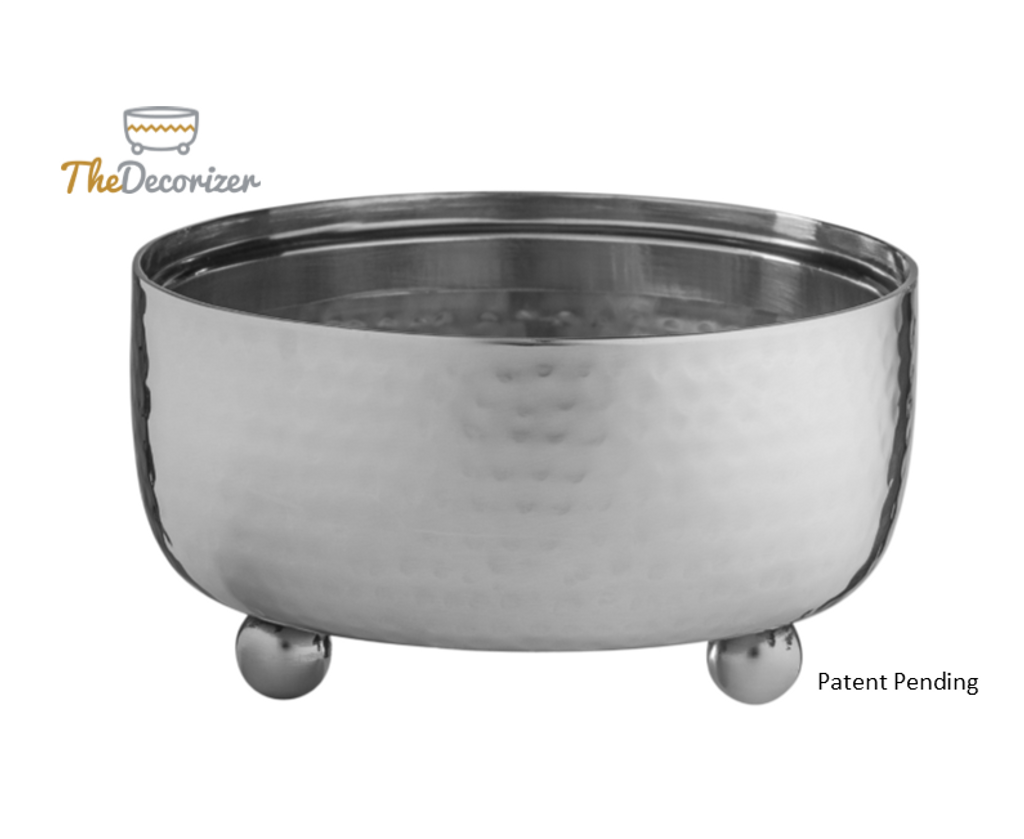The Decorizer - Silver Hammered Metal Dip Bowls