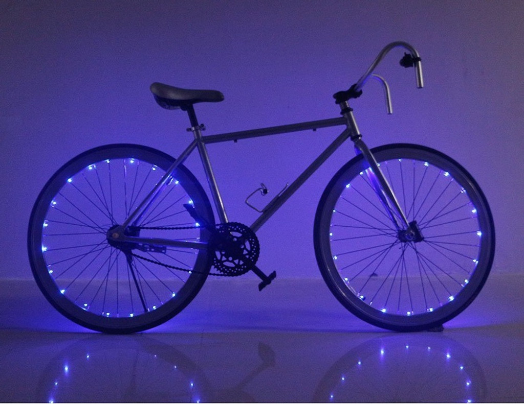 Set of 2 Bike Wheel Lights - Blue