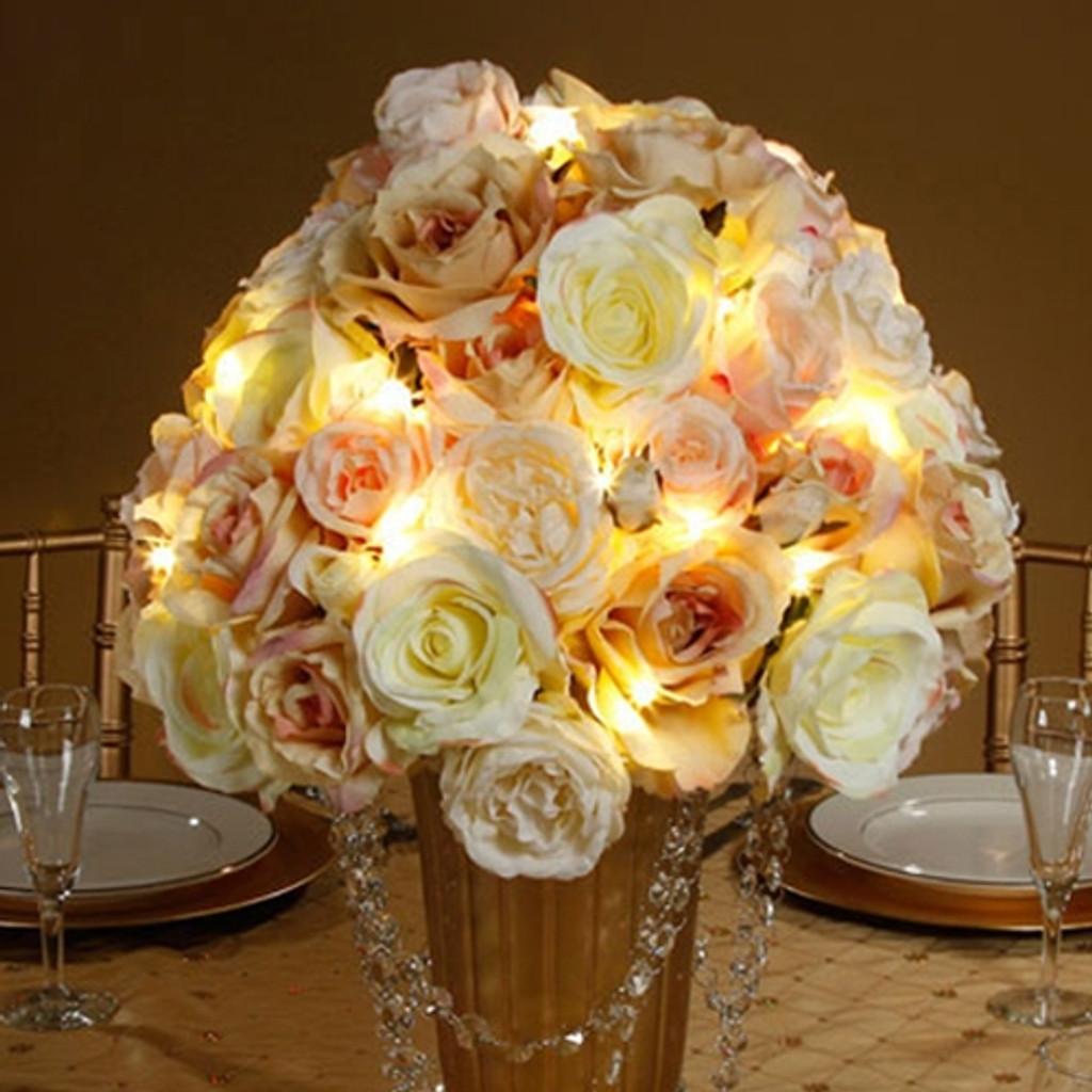 David Tutera Bridal Lights 4.2 ft. Gold Wire 12 Lights