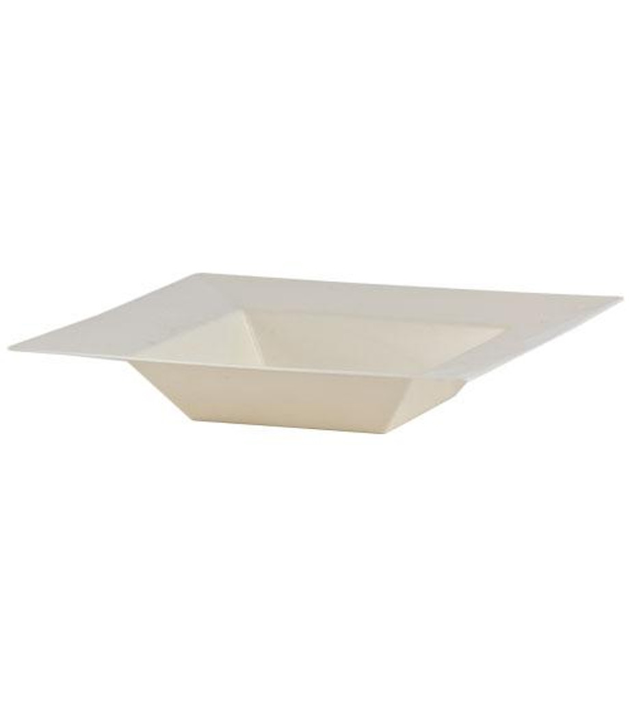 Plastic Squares 12 oz Bowl Cream - 10 Ct.