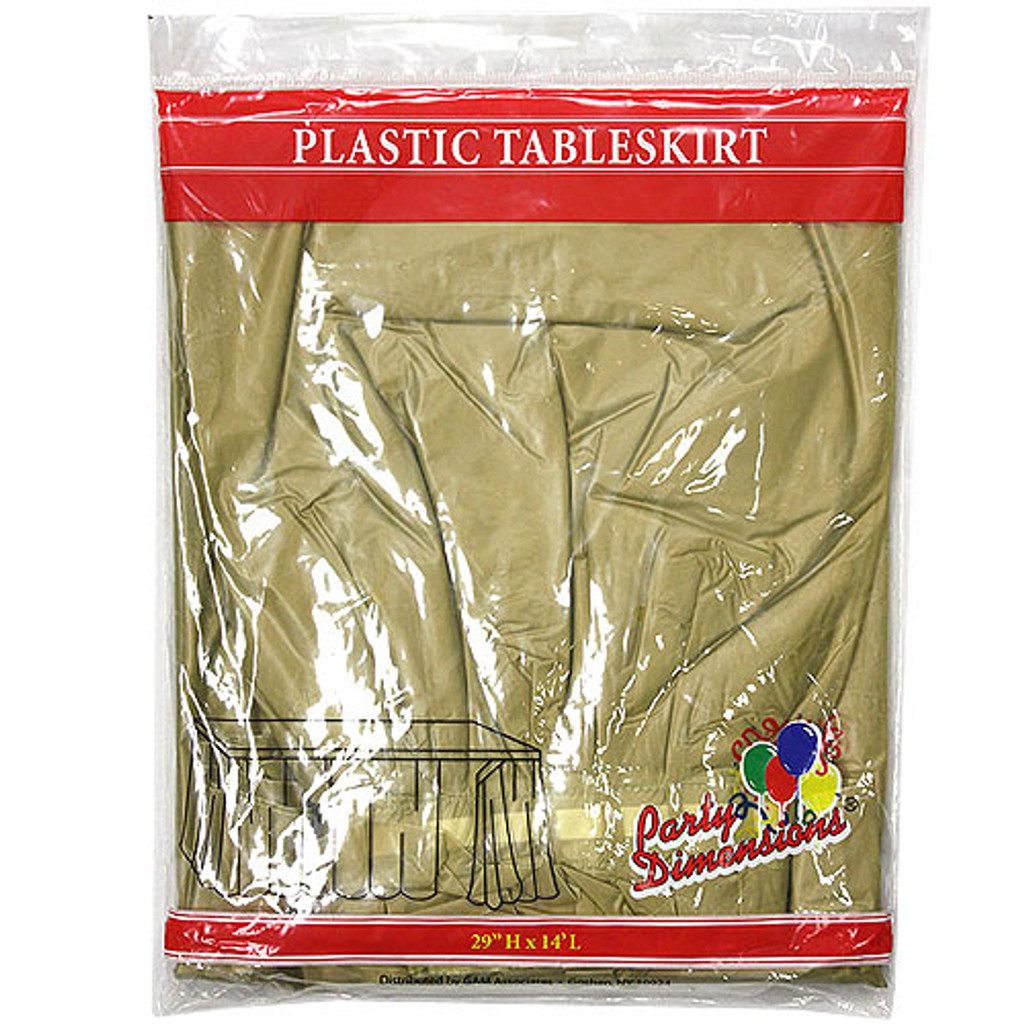 Plastic Table Skirts Gold