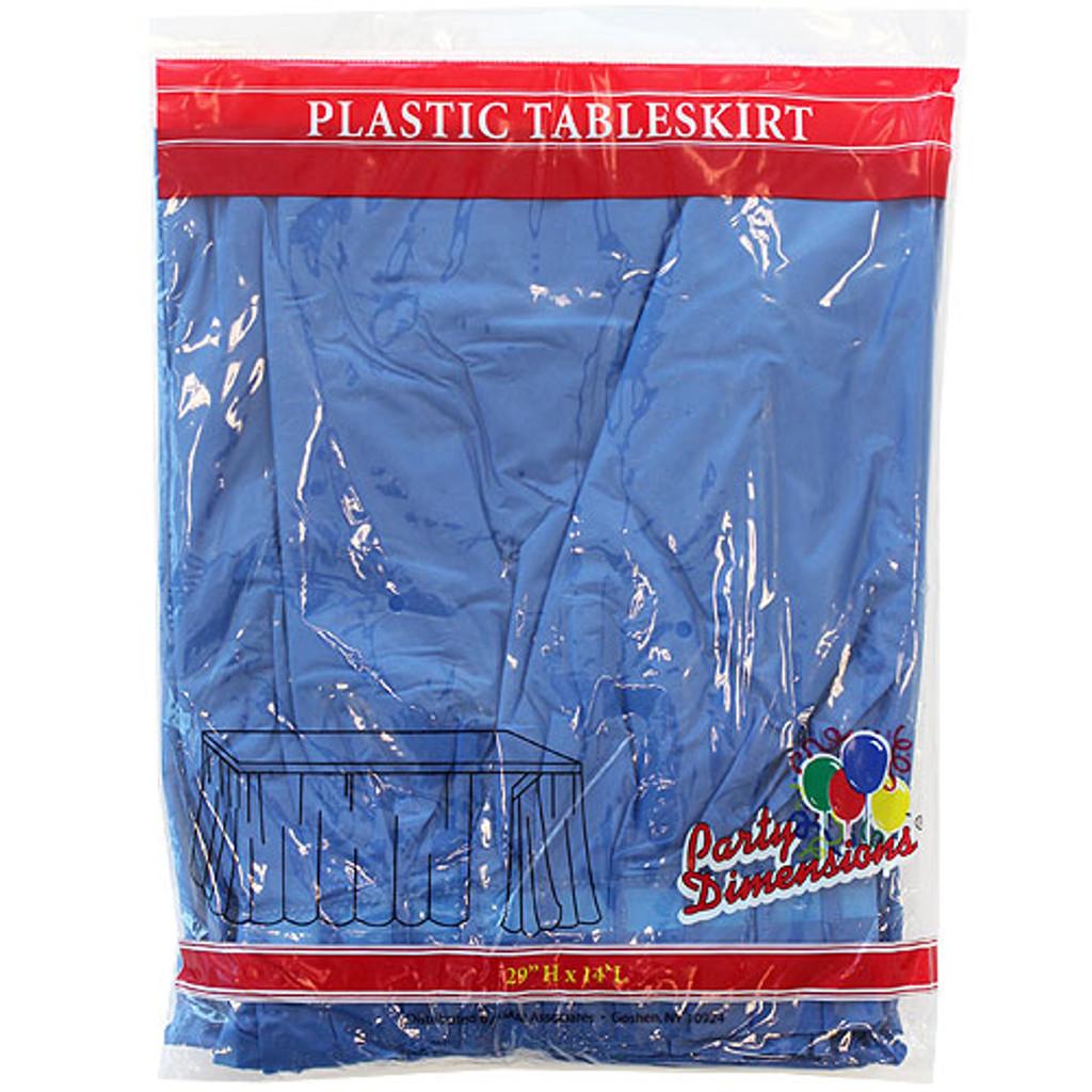 Plastic Table Skirts Blue