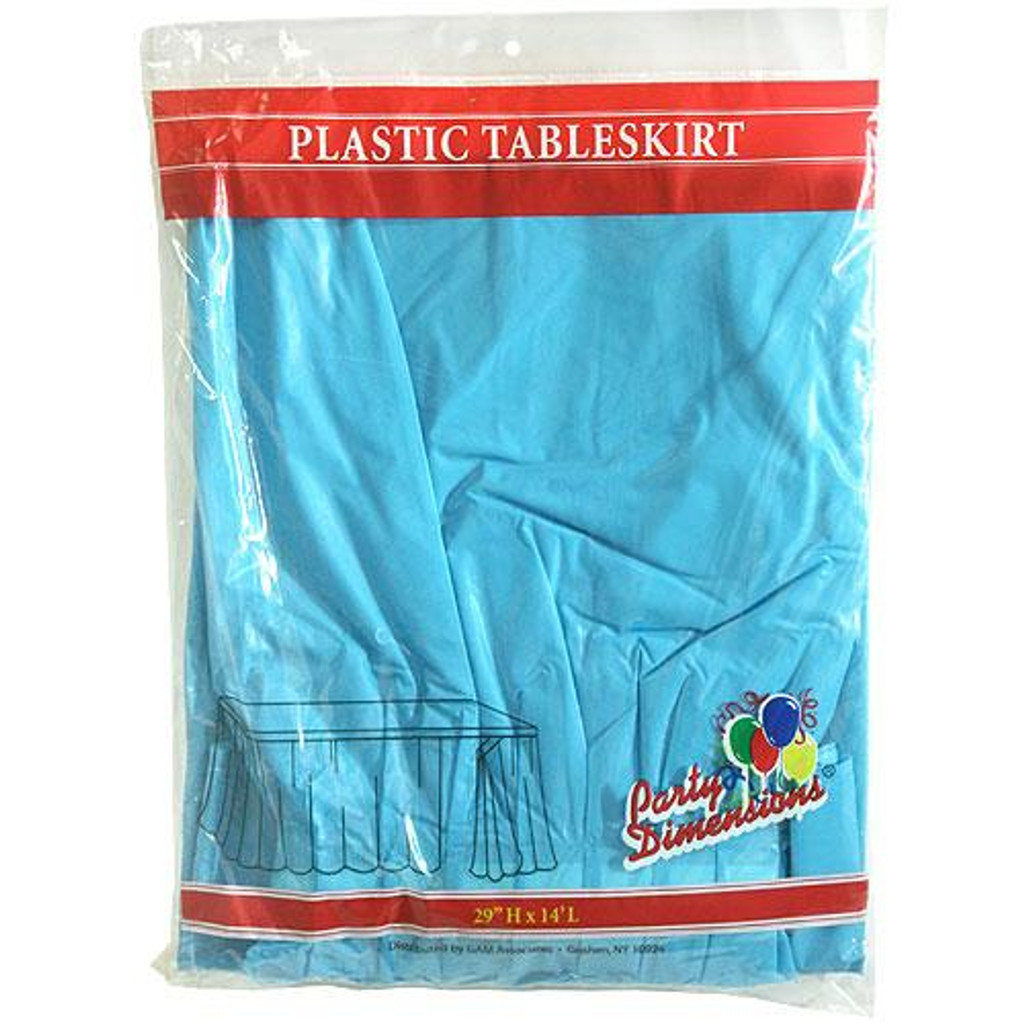 Plastic Table Skirts Island Blue