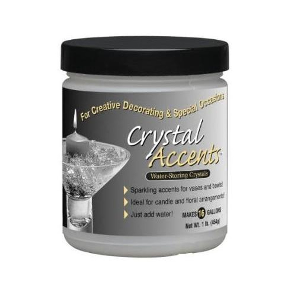 Crystal Accents Water Storing Crystals 1 lb. Jar Diamond White