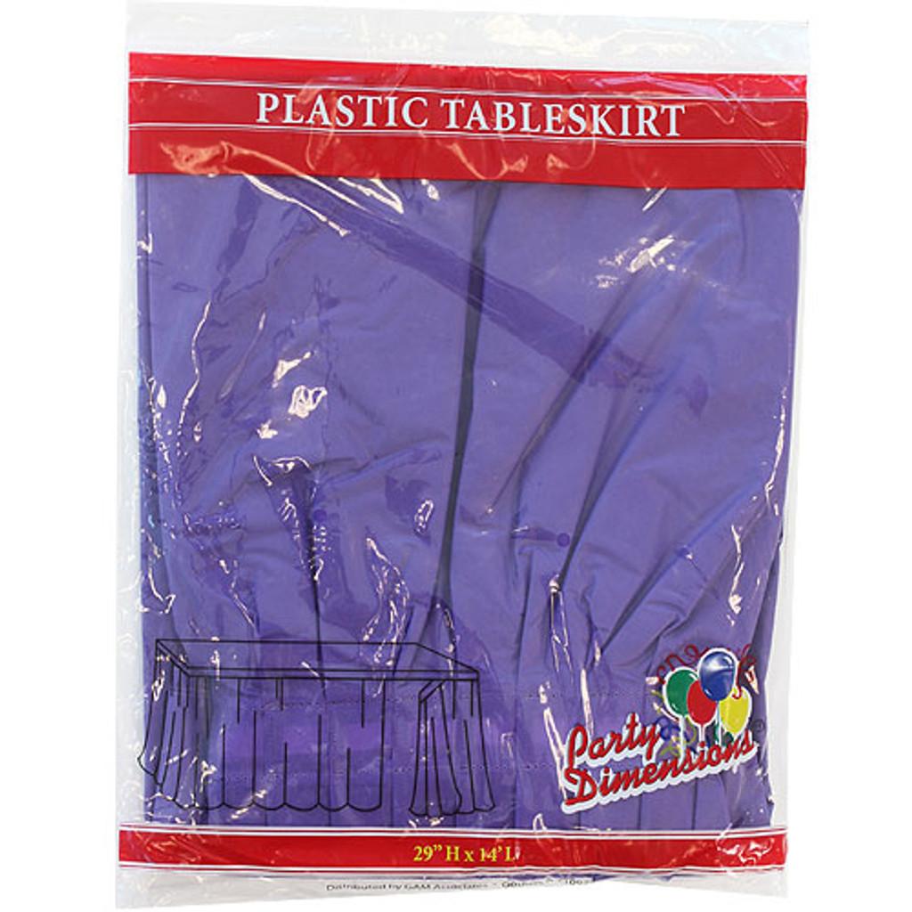 Plastic Table Skirts Purple