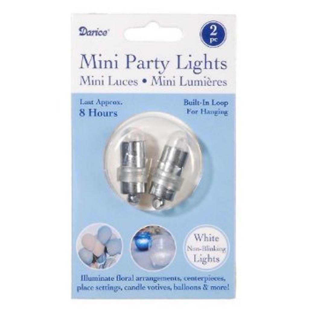 Mini Party Lites, 2-Pack, Blinking, White