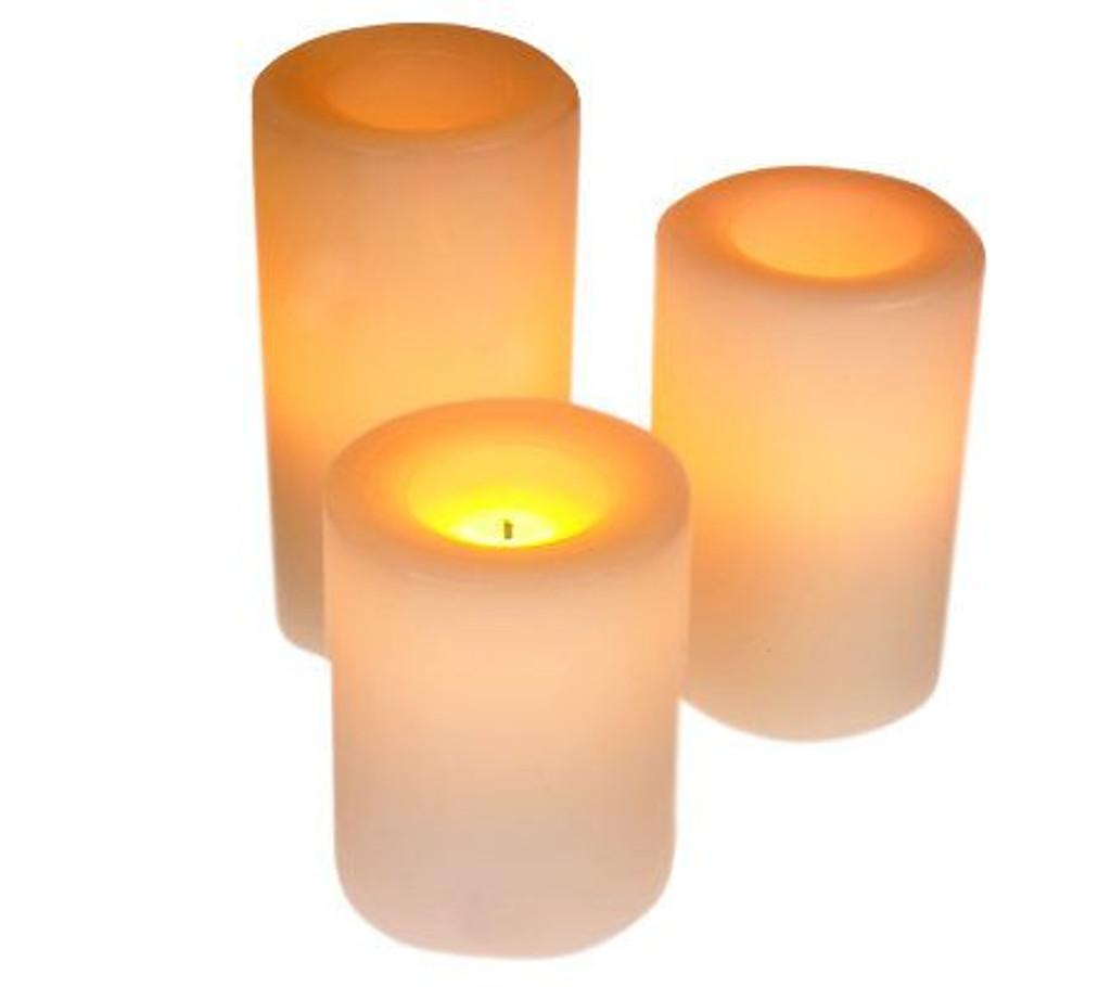 Round Wax Covered Plastic Pillar 5-Inch White
