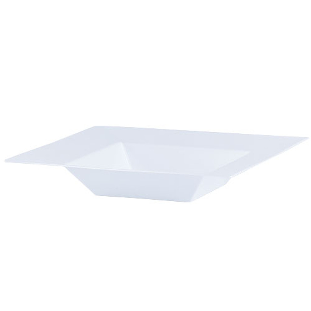Plastic Squares 12 oz Bowl White - 10 Ct.