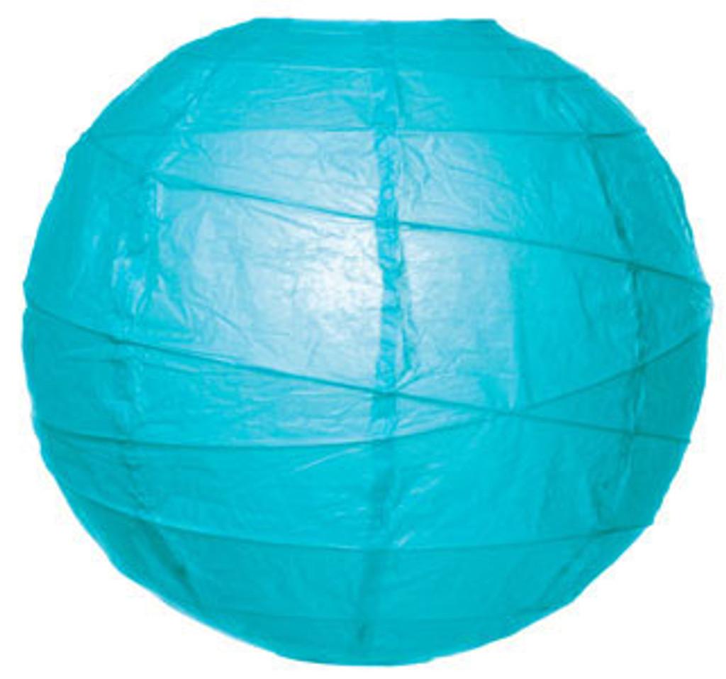 Premium Turquoise 14-Inch Round Paper Lantern