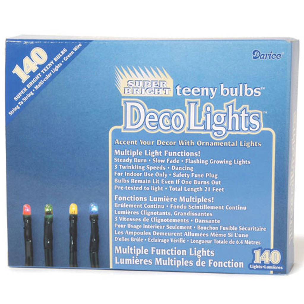 Multiple Function Teeny 140-Bulb Light Set, Multicolored