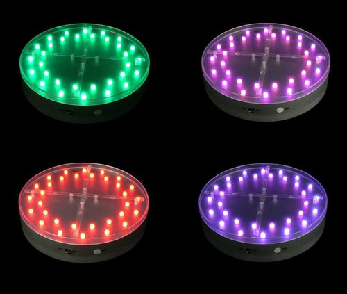 E-Maxi Luminator Light Base 6-Inch Battery Operated - RGB - Remote Control Capable