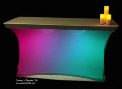 "Maxcolor Table Skirt Light with Remote Control, 132 LEDs, 13.75"" Diameter"