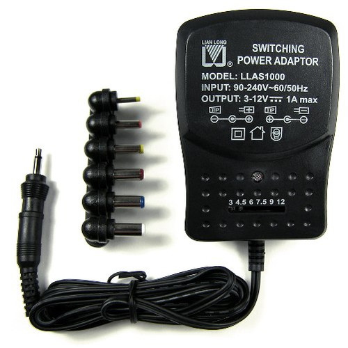 Switching Power Regulated Adapter, 3V - 12V