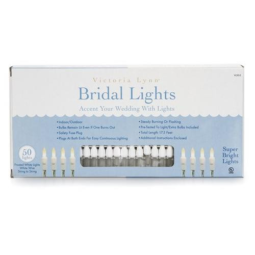Victoria Lynn Bridal Lights - 50 Frosted Lights - 17.5'