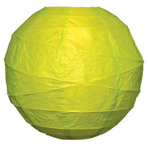 Premium Chartreuse 14-Inch Round Paper Lantern