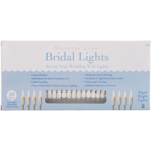 Victoria Lynn Bridal Lights - 50 Clear Lights - 17.5'