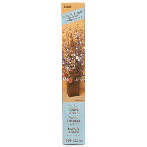 "18"" Brown Lighted Branches - 60 Clear Rice Bulbs - Plug In"