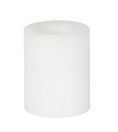 Round Wax Covered Plastic Pillars 4-Inch White