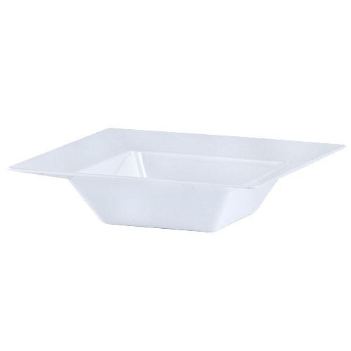 Plastic Squares 5 oz Bowl White - 10 Ct.
