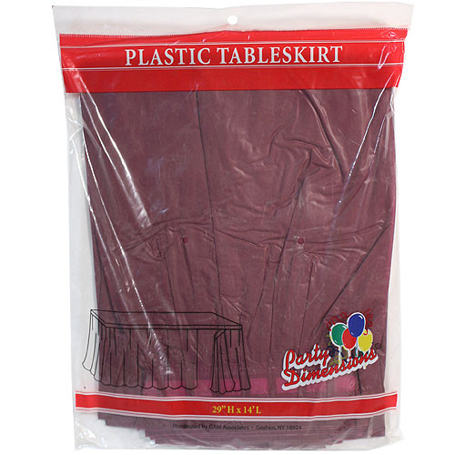 Plastic Table Skirts Berry