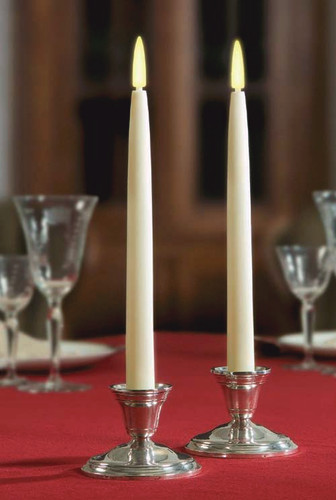 2 Pack Classic 12-Inch Taper Candles with Holders