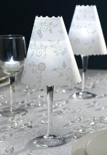 David Tutera Lace Print Vellum Wrap Shades, 12/Pkg