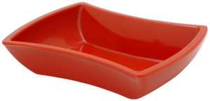Hutzler Hourglass Bowl Appetizer Serveware, red