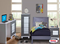 127 Gray & White Siena Juvenil Bedroom