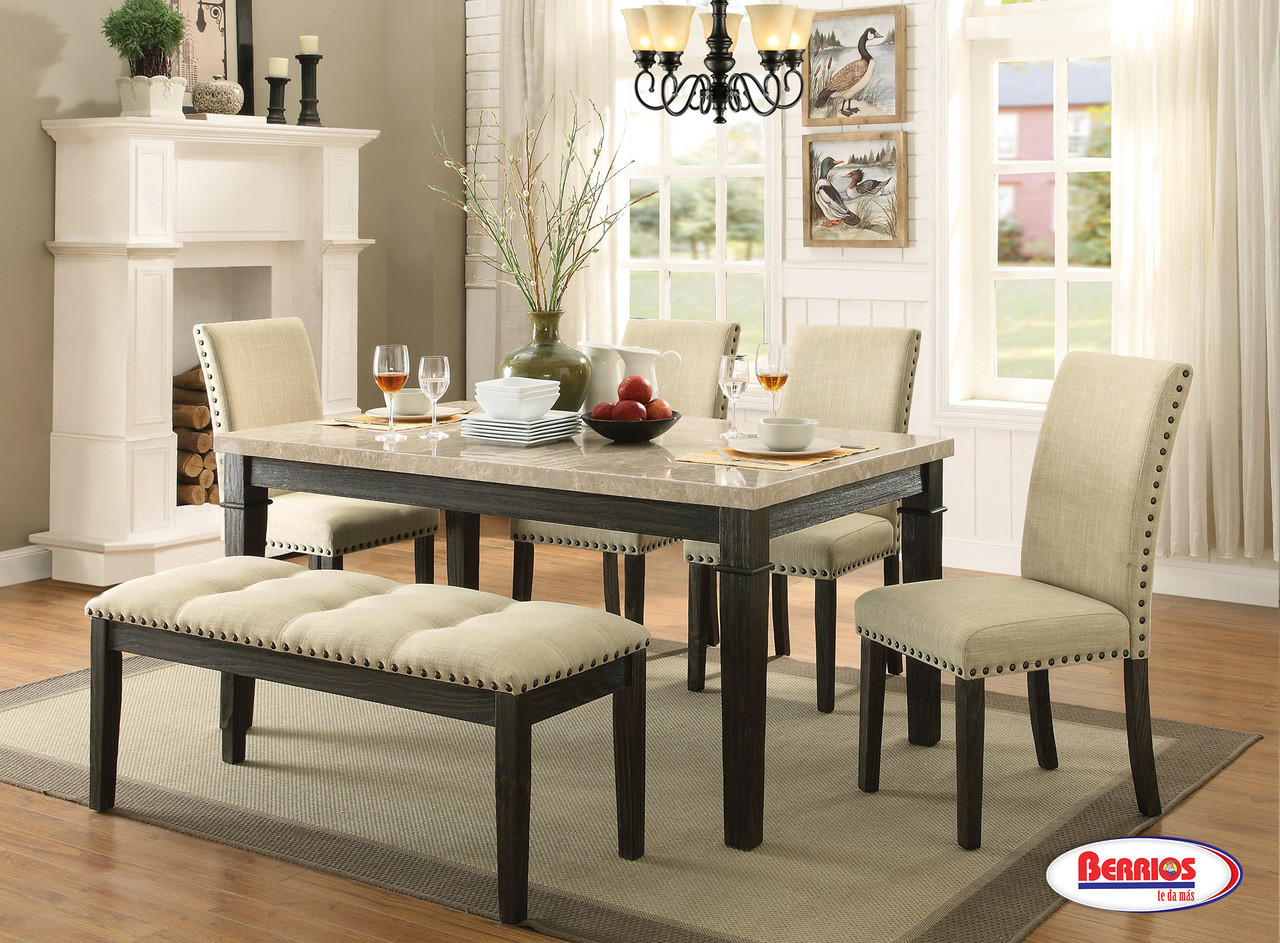 100 Greystone Dining Room With Bench