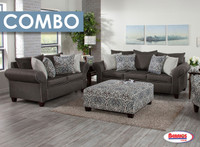 Combo 8 Pcs. | Charcoal Ashton Living Room