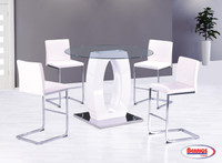 D1660 Olwen White Counter Height Dining Room